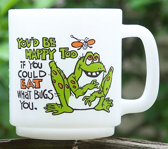You'd Be Happy Too If You Could Eat What Bugs You!