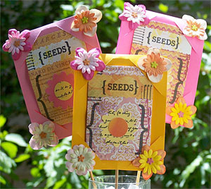 Seed packet bouquet