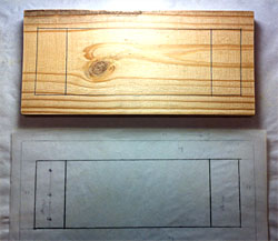 copy diagram onto wood