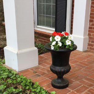 A traditional planter for a traditional home