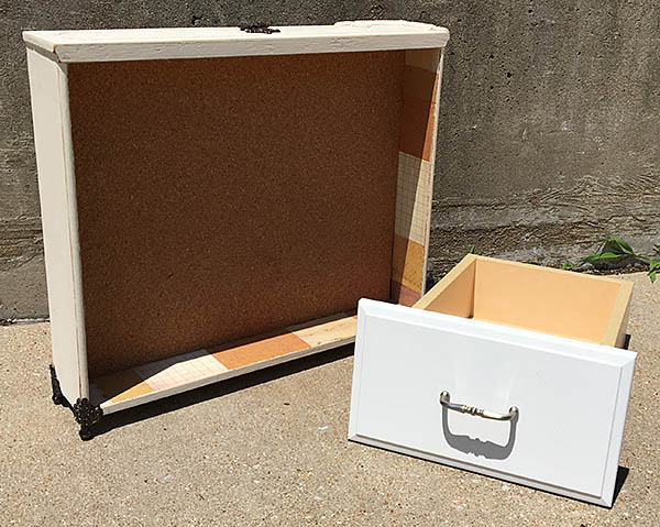 Learn how to make a shadow box from an old drawer