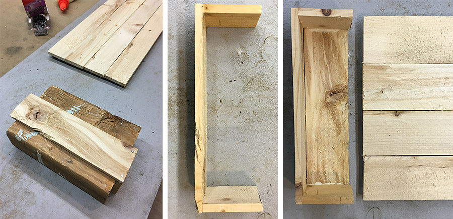 Making tray for the bottom of the message center.