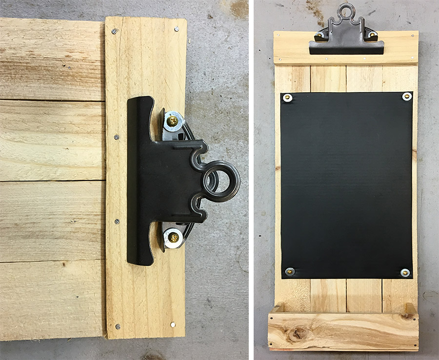 Attach the clipboard clip and you are done!