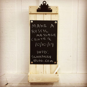 Make a Rustic Message Center from lath wood